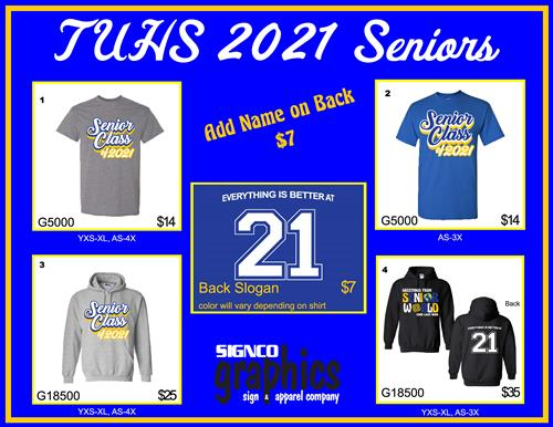 Senior Shirt Sale